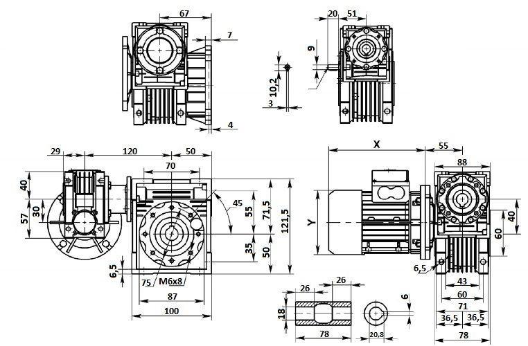 Изображение мотор-редуктора DRV 030-040