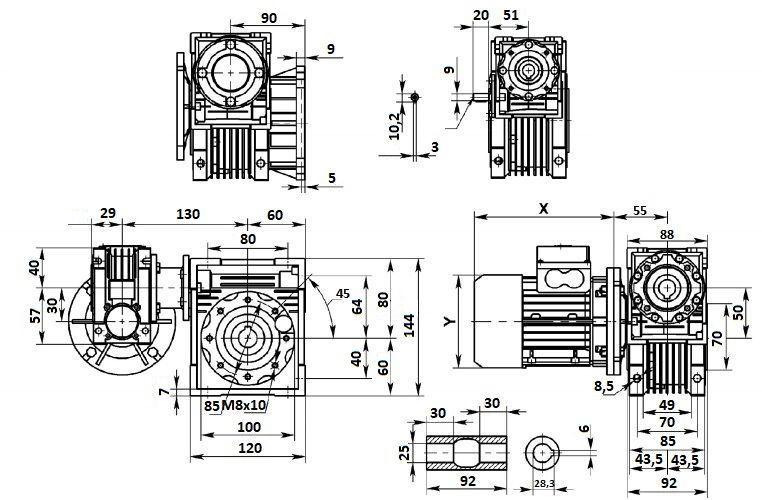 Изображение мотор-редуктора DRV 030-050