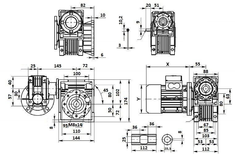 Изображение мотор-редуктора DRV 030-063
