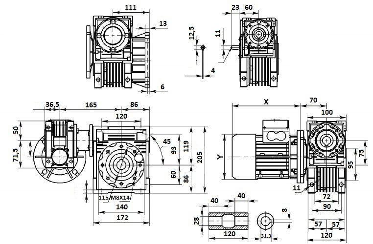 Изображение мотор-редуктора DRV 040-075