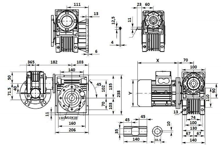 Изображение мотор-редуктора DRV 040-090