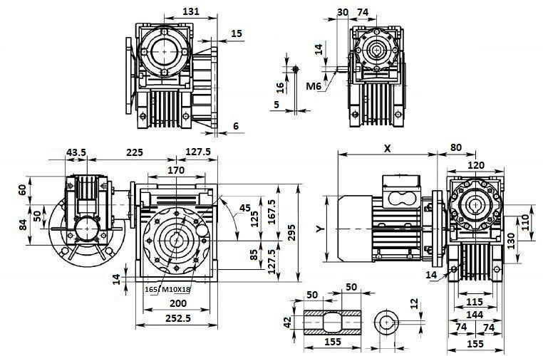 Изображение мотор-редуктора DRV 050-110