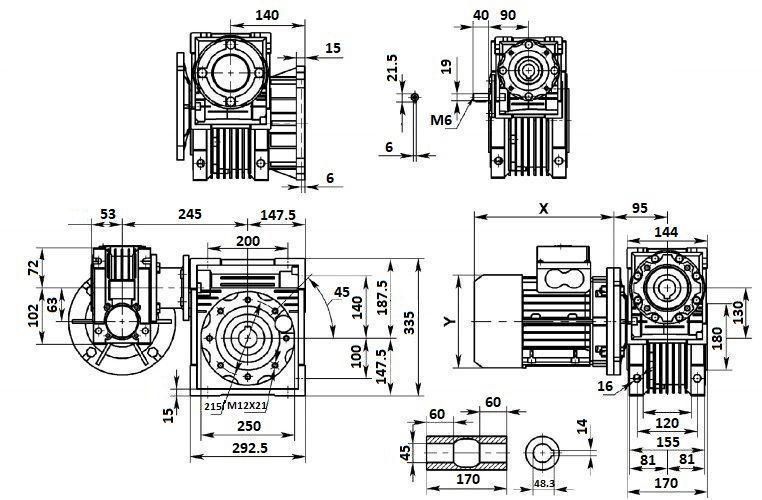 Изображение мотор-редуктора DRV 063-130
