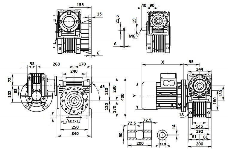 Изображение мотор-редуктора DRV 063-150