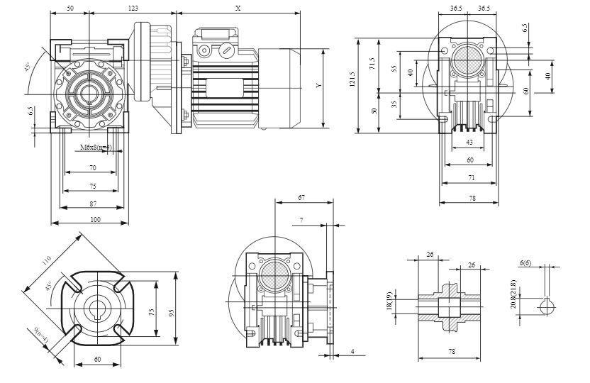 Изображение мотор-редуктора PCRV 063-040