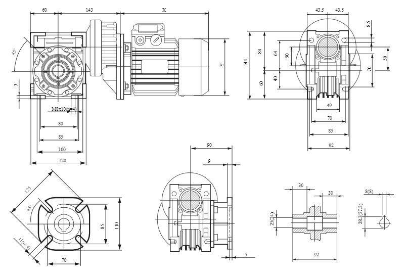 Изображение мотор-редуктора PCRV 071-050