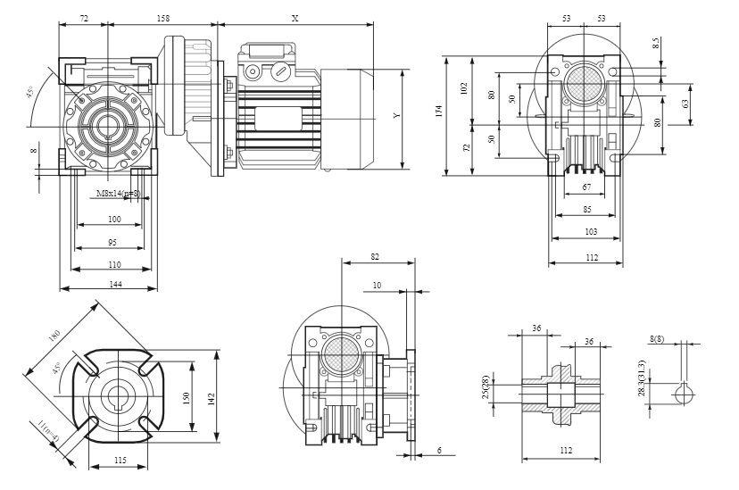 Изображение мотор-редуктора PCRV 071-063
