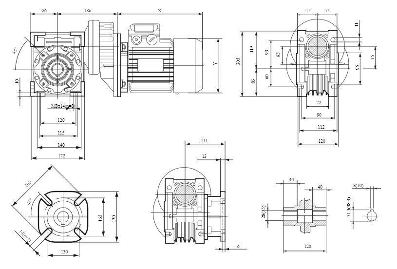Изображение мотор-редуктора PCRV 080-075