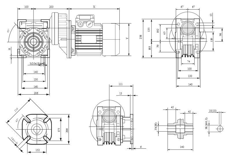 Изображение мотор-редуктора PCRV 080-090