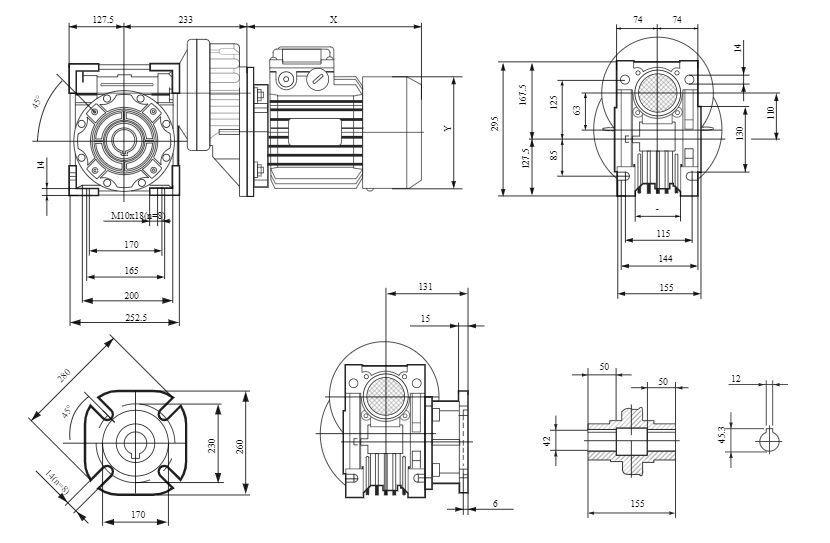 Изображение мотор-редуктора PCRV 080-110