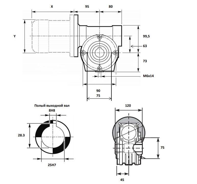 Изображение мотор-редуктора VF 63