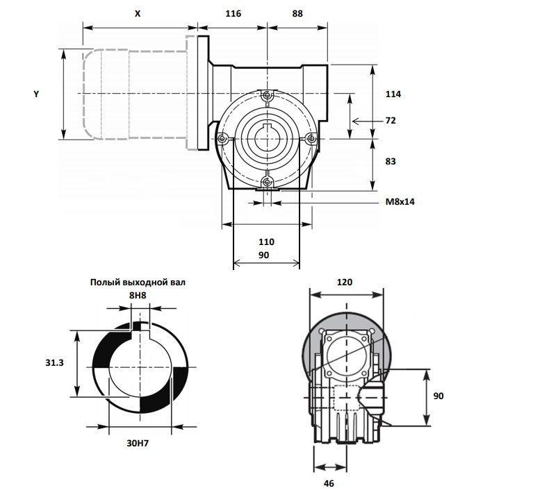 Изображение мотор-редуктора VF 72